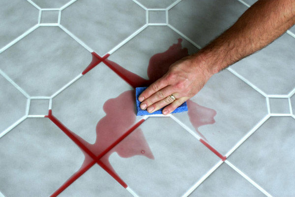Cleaning Red Wine From Grout