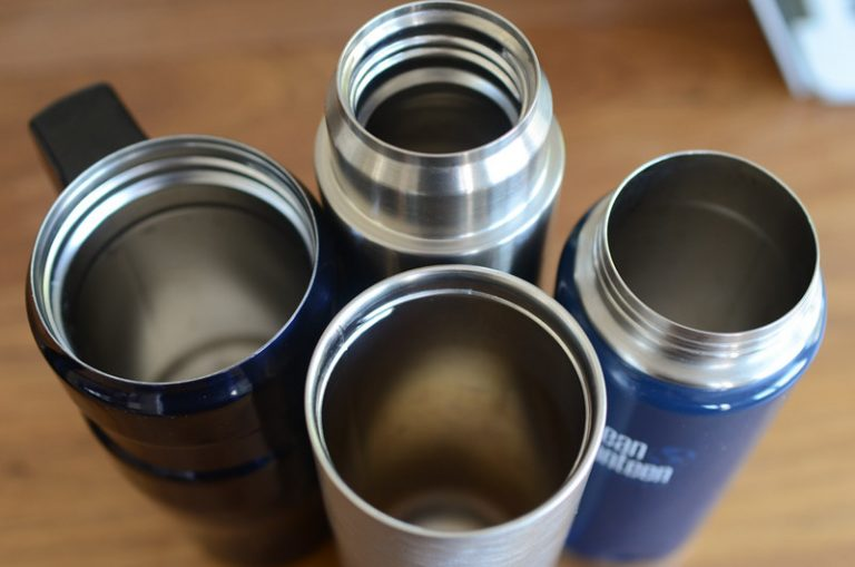 Home Cleaning a stainless steel mug